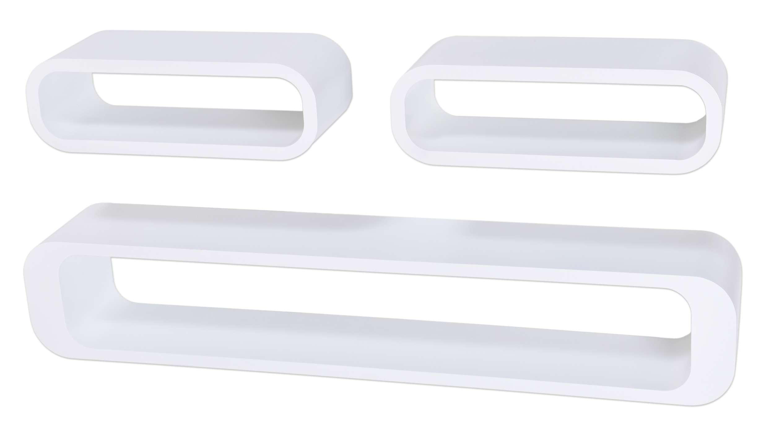 Półki Wiszące Cube Owall 3 Szt Białe Ehokerypl Tanie