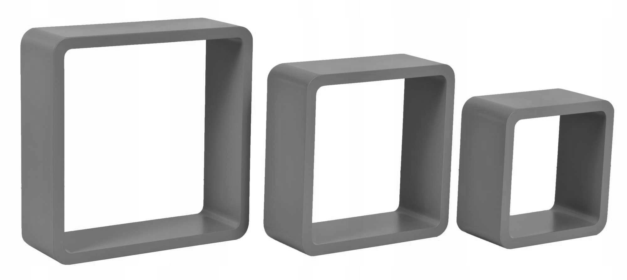 3 Półki Wiszące Cube Quad Szary Ehokerypl Tanie Hokery