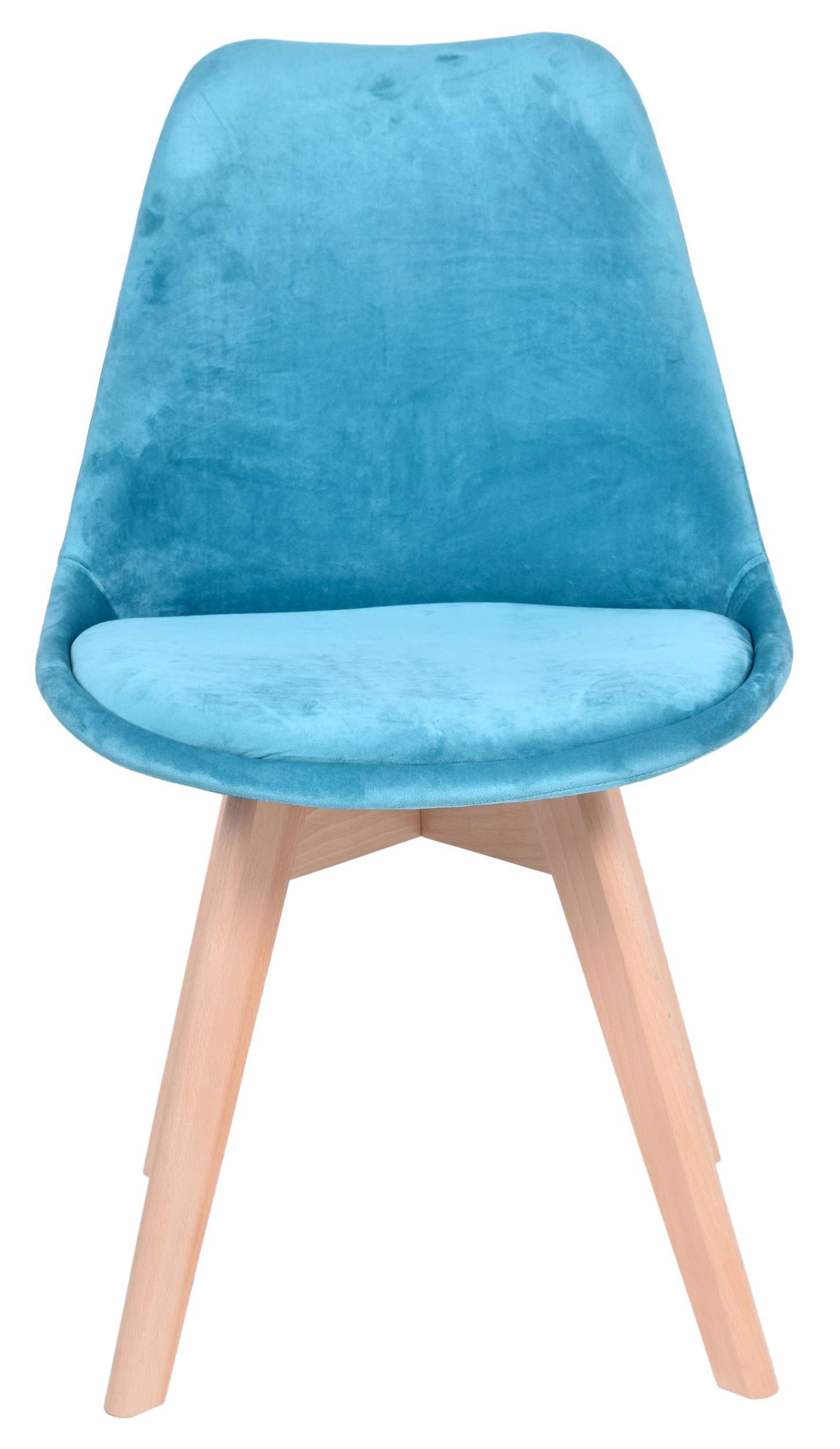 Krzesło tapicerowane Nantes Velvet morski   eHokery.pl