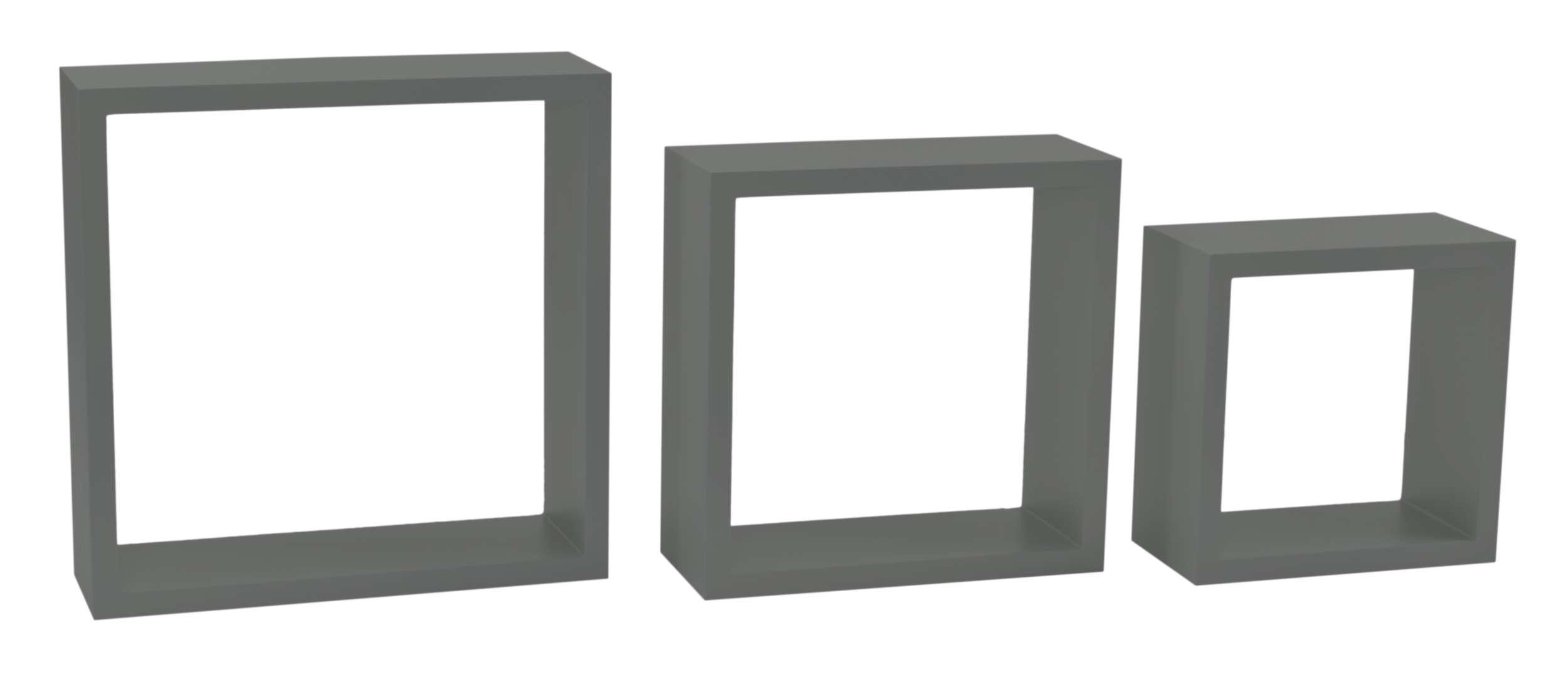3 Półki Wiszące Cube Quad Szary Ehokerypl Tanie