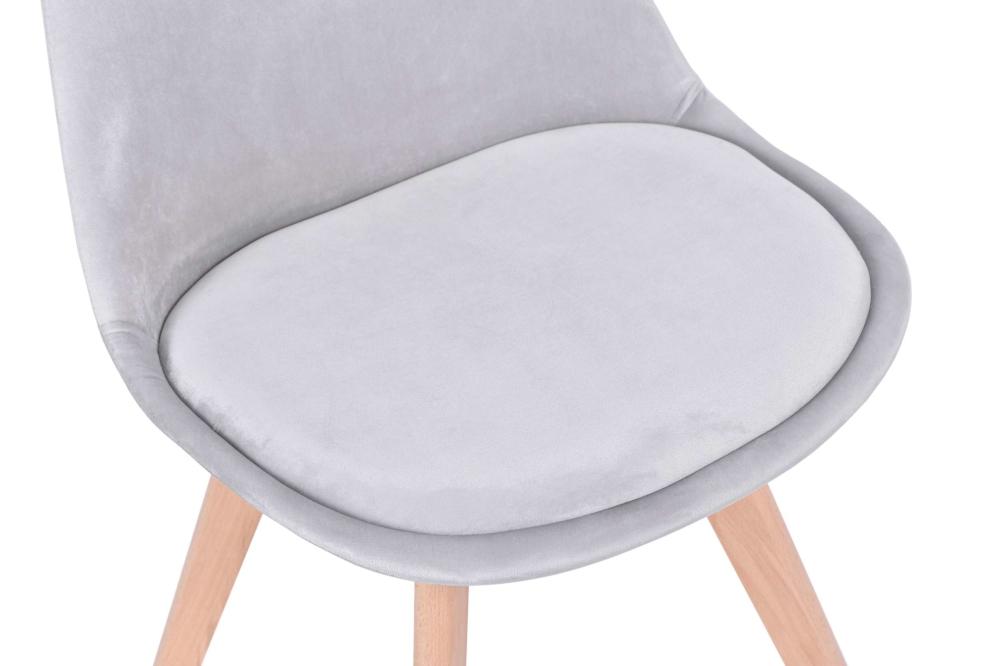 Krzesło tapicerowane Nantes Velvet srebrnoszary | eHokery.pl
