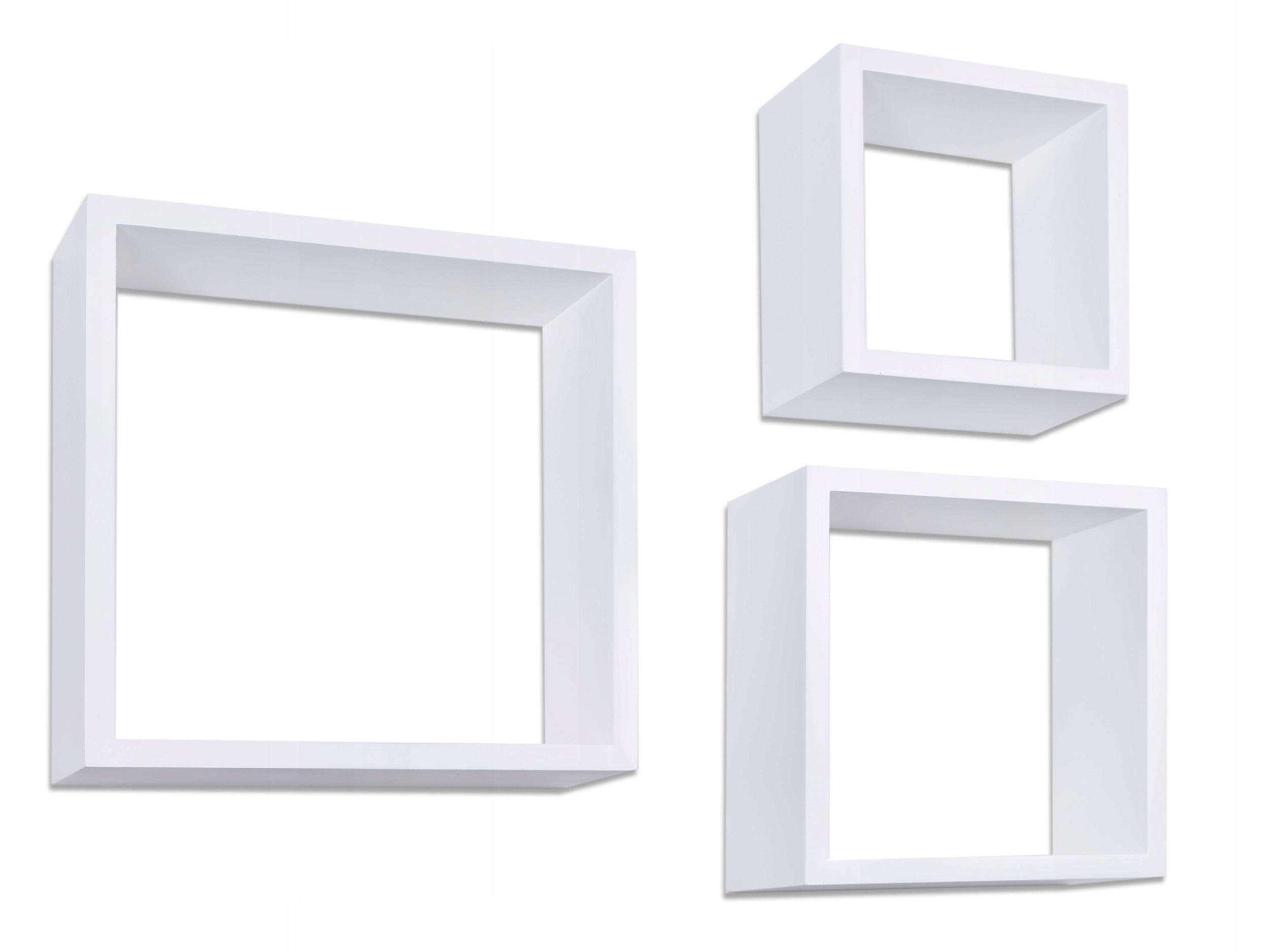 3 Półki Wiszące Cube Quad Biały Ehokerypl Tanie