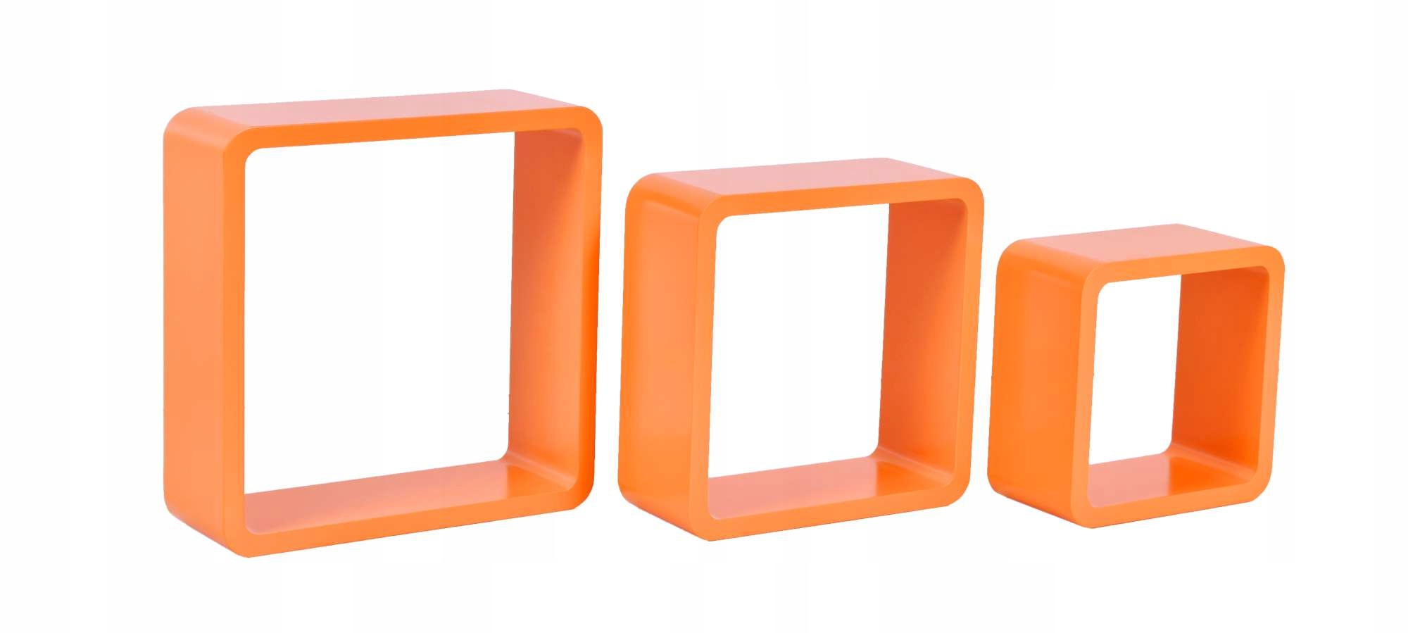 3 Półki Wiszące Cube Pomarańczowy Ehokerypl Tanie