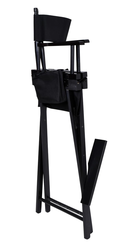 Krzesło reżyserskie do makijażu SPIELBERG składane czarne